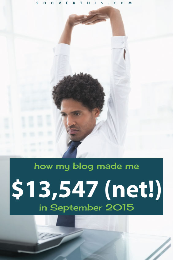 WOW, over $13,000 in income in a single month. This guy made all this money from his blog! Blogging is a great way to make a ton of money. I'd be stoked to earn money online like that... in a whole year. He even shares how to start a blog and how to make money from a blog, so I can try my hand at this, too.