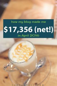 April 2016: Blog Net Income Report