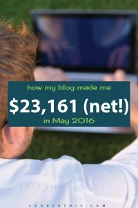 May 2016: Blog Net Income Report