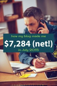 July 2015: Blog Net Income Report