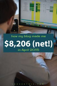 April 2015: Blog Net Income Report