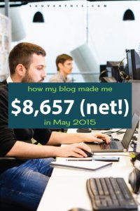 May 2015: Blog Net Income Report