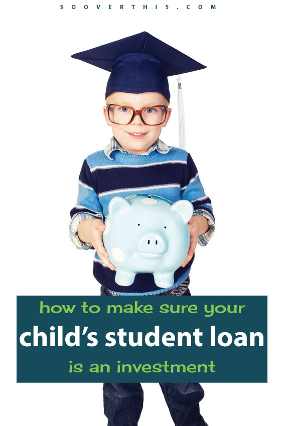 I have worried that putting money into a 529 might not work out well enough to fund a college degree for my kid. This post covers how to make sure your child's student loan is an investment - you want that money to grow! Otherwise, they might not be able to afford college.
