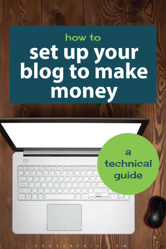 This is exactly how to set up your blog ot make money. It's a technical guide, but it's not scary, it just teaches you how to make money online from a blog, and he has proof, he's done it himself! He has made over $200k from blogging and keeps increasing his income.