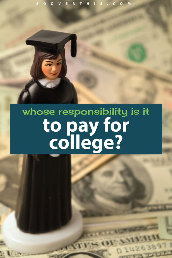 Do you feel like you are responsible for paying for your child's college education? Should the government pay for college? How do you go about saving or instilling the need to save? There are a lot of things to plan when you are setting out a budget for college and a general plan for post-secondary education. This article gave me a lot to think about.