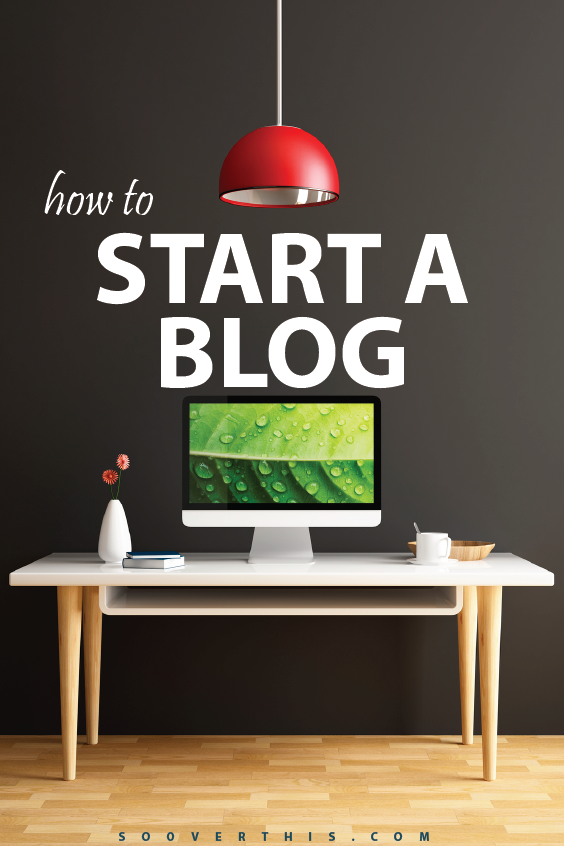 These are the 4 Super-Easy Steps that show you How to Start a Blog. The tutorial is easy to follow and got me going on my dream of working from home and bringing in some money in my spare time. Want to jump on the blogging bandwagon with me? Click here to try it - http://www.sooverthis.com/how-to-start-a-blog/