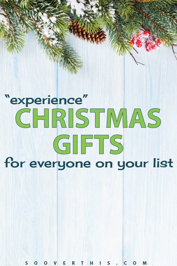 Experience Gift Ideas | Christmas Experience Gifts | DIY gift ideas