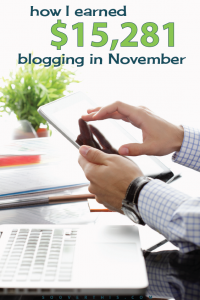 November 2016: Blog Net Income Report