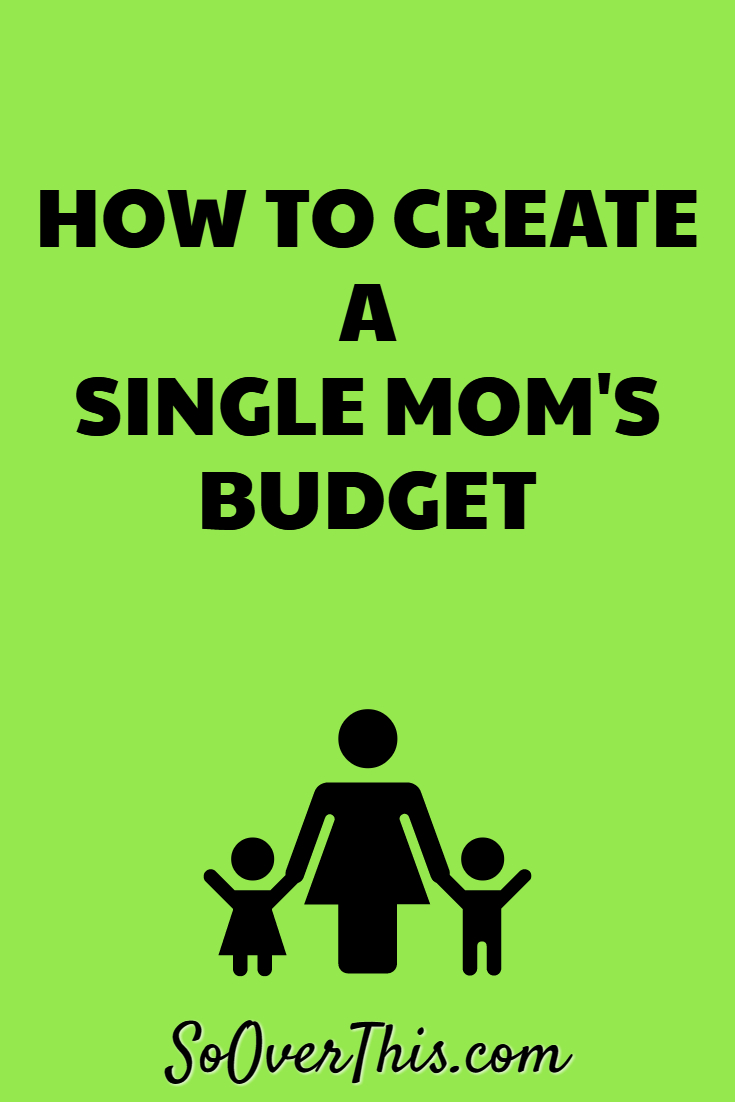 Creating a single mom budget how to create a single moms budget budget for a single mom one parent ccuart Image collections