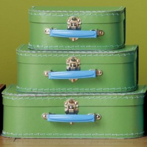 love these suitcase from Land of Nod