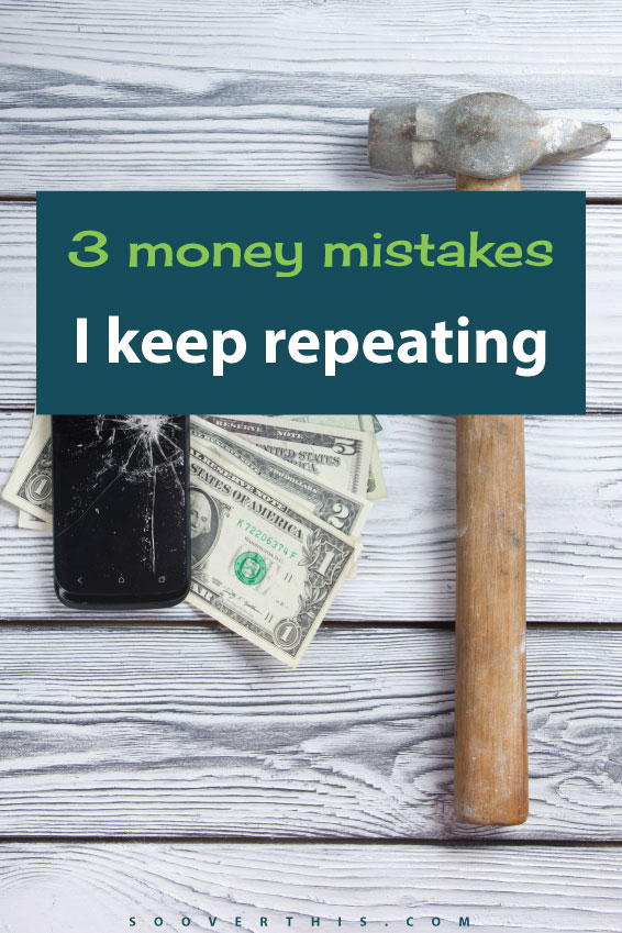 Getting out of debt is easy, just like dieting, right? All you have to do is spend less than you make. It's way easier said than done, though! Here are 3 money mistakes that I keep repeating, over and over. Learn from me and DON'T do these things so that you can stay on budget.
