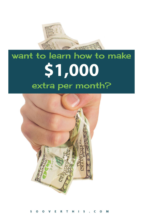 I would LOVE to make an extra $1000 per month. That would so absolutely amazing things for our budget. Earning money online is much more realistic than I thought. As a stay at home mom, this would be a wonderful amount of money to earn, think of all the things we could do! We could pay down debt, invest more for retirement and be able to afford piano lessons and swimming much more easily. Oh, and a vacation. I want more vacations!