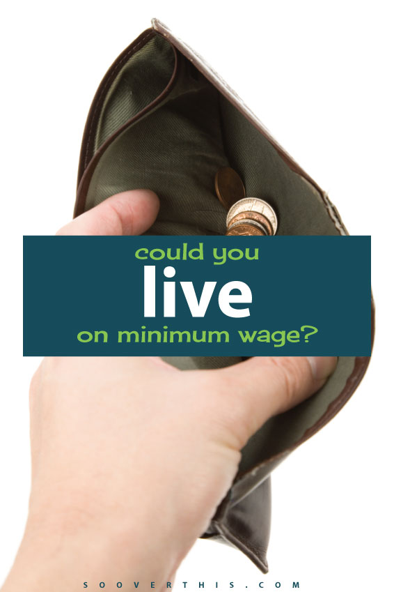 Could YOU live on minimum wage? This is an extremely interesting mental exercise that forced me to challenge every line in my budget and think about my own life, spending patterns and debt. Living on minimum wage is definitely challenging, but is it doable? Definitely read this post and think about it.