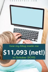 October 2015: Blog Net Income Report