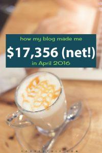 April 2016: Blog Net Income Report
