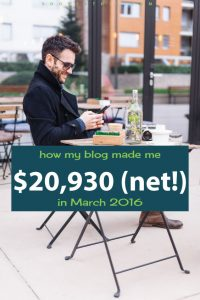 March 2016: Blog Net Income Report