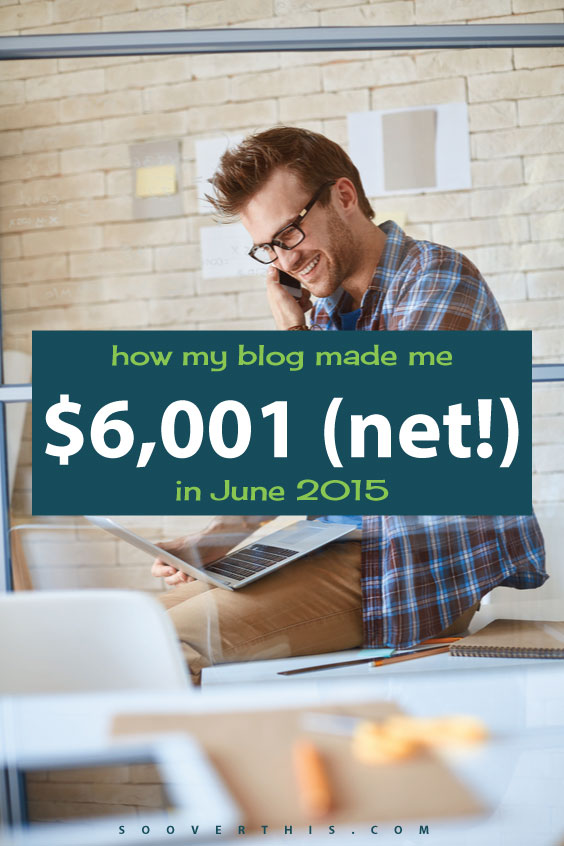 WOW, I am totally going learn how to make money from a blog like this one; he shares how he made over $6,000 in a single month from his blog. It's actually not very hard to start a wordpress blog, and it's not a huge investment, either, it's very doable. I am so glad I read this, it has given me a ton of blog ideas.