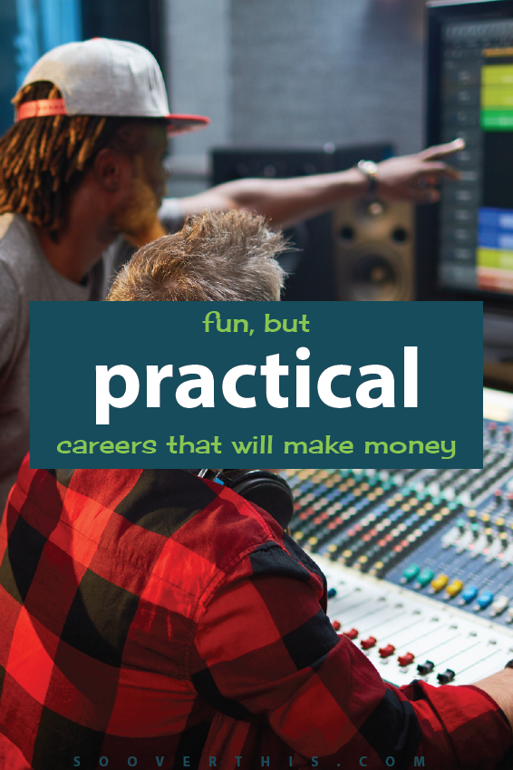 Fun But Practical Careers that will Make You Money | College Ideas | Career Ideas | Career Tips | New Jobs